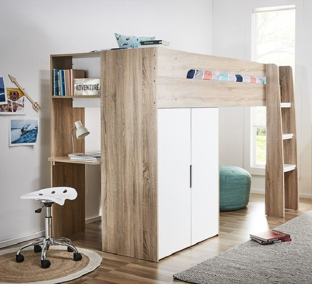 Rent To Own Cabin King Single Loft Bed