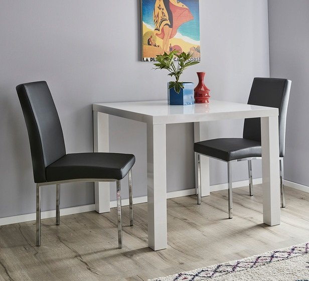Rent To Own Verona 3 Piece Dining Set With Eve Chairs