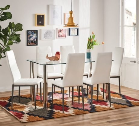 Rent To Own Zoe 7 Piece Dining Setwith Zara Chairs