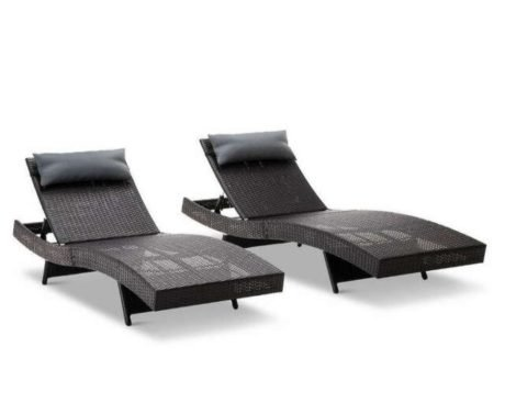 Rent To Own Set Of 2 Sandra Outdoor Sun Loungers