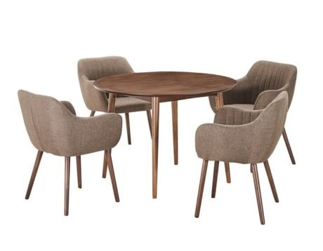 Rent To Own Tara 5 Piece Dining Set With Salon Chairs 1