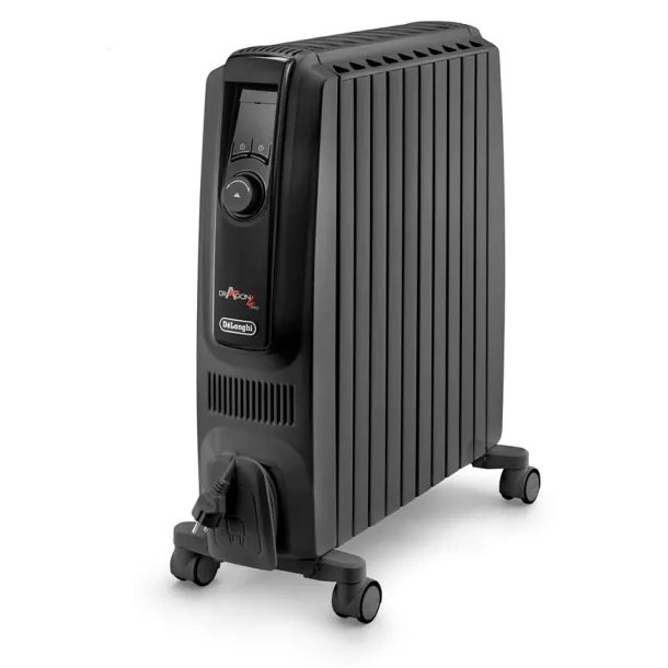 Rent To Own Delonghi 2400w Dragon 4 Electric Oil Column Heater With Timer