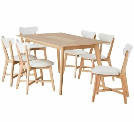 Rent To Own Java 6 Seater Dining Set With Elke Chairs 1