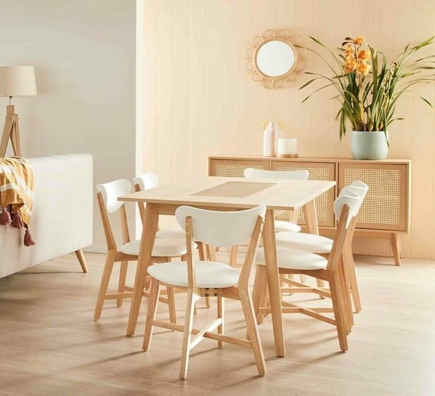 Rent To Own Java 6 Seater Dining Set With Elke Chairs