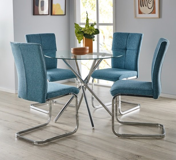 Rent To Own Pinto 4 Seater Dining Set With Flint Chairs