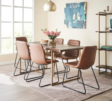 Rent To Own Portofino 6 Seater Dining Set With Frankie Chairs